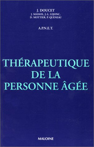 9782224025748: Th�rapeutique de la personne �g�e