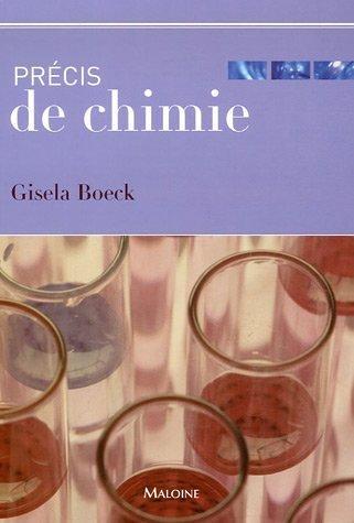 PRECIS DE CHIMIE: BOECK GISELA