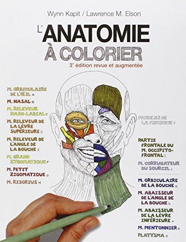 ANATOMIE A COLORIER, 3E ED.: KAPIT W ,