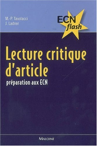 9782224030155: Lecture critique d'article : Pr�paration aux ECN