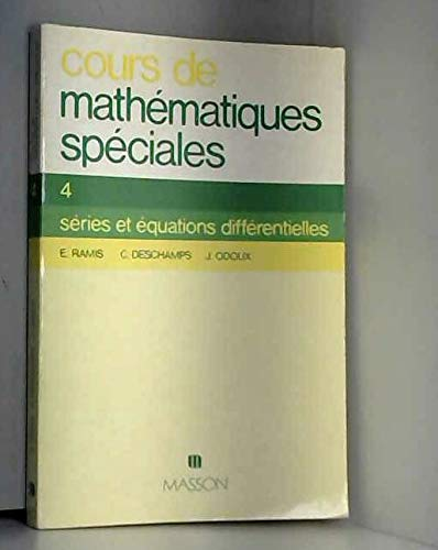 9782225467509: Cours de math�matiques sp�ciales