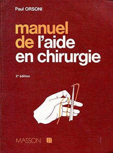 9782225661761: Manuel de l'aide en chirurgie