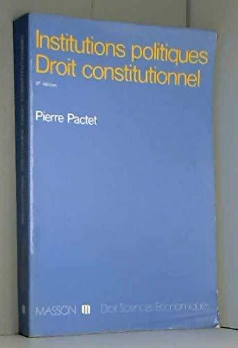 9782225757136: Institutions politiques, droit constitutionnel (Collection Droit-sciences économiques) (French Edition)