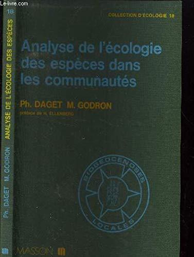 9782225780905: Analyse fr�quentielle de l'�cologie des esp�ces dans les communaut�s
