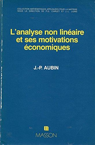 L'Analyse non linéaire et ses motivations économiques: J.P. Aubin