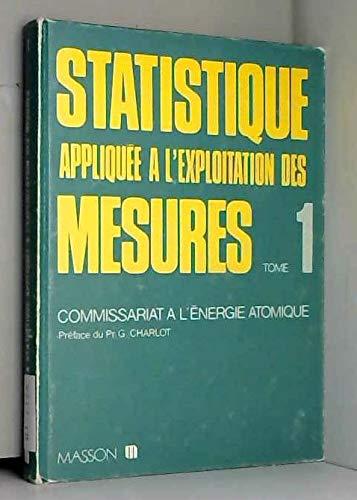 9782225804885: Statistique appliquee a l'exploitation des mesures...