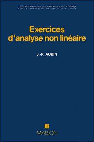 Exercices d'analyse non lin?aire: Aubin, Jean-Pierre