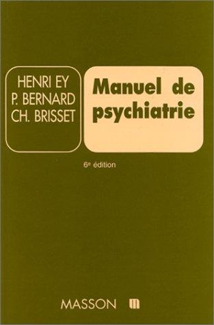 9782225812866: Manuel de psychiatrie. 6ème édition