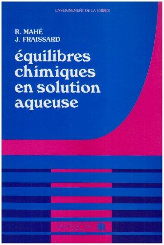 9782225813238: Équilibres chimiques en solution aqueuse