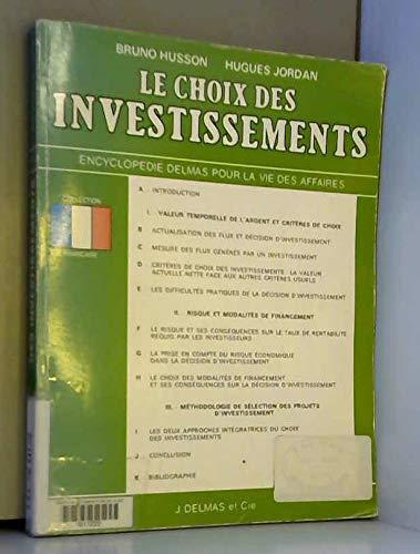 Le Choix des investissements: Husson