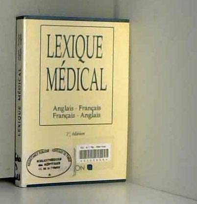 Lexique Medical Anglais Francais 3rd Edition