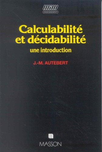 9782225826320: Calculabilité et décidabilité