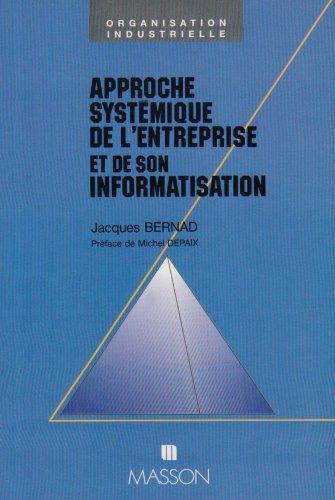 9782225826375: Approche systémique de l'entreprise et de son informatisation