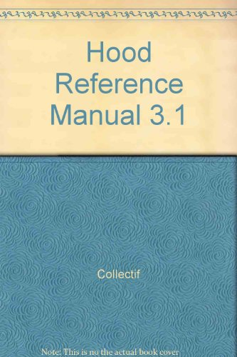 9782225828171: HOOD REFERENCE MANUAL 3.1