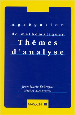 9782225830808: Th�mes d'analyse
