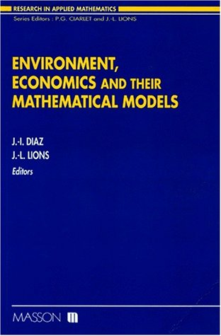 9782225844904: Environment, economics, and their mathematical models (Research in applied mathematics)