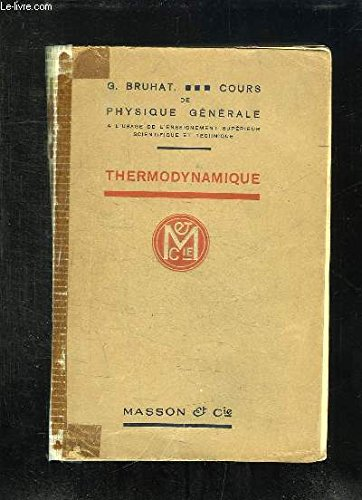 9782225852534: THERMODYNAMIQUE