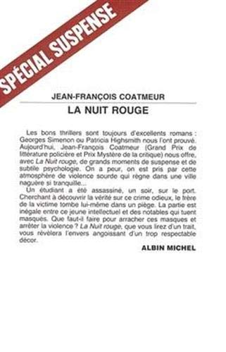 9782226019820: Nuit Rouge (La) (Collections Litterature) (French Edition)