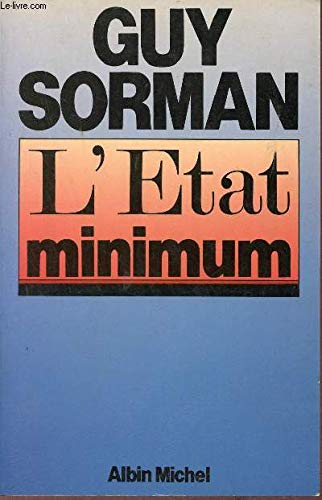 9782226024893: L'Etat minimum (French Edition)