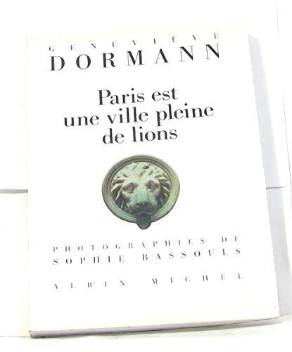 9782226053831: Paris est une ville pleine de lions