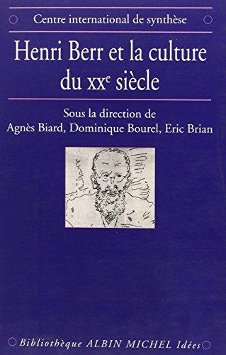 9782226092496: Henri Berr et la culture du XXe siècle