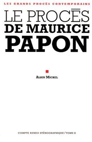 9782226105288: Le procès de Maurice Papon, tome 2