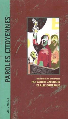 9782226112989: Paroles citoyennes
