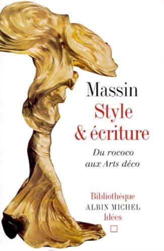 9782226122247: Style et Ecriture : Du rococo aux arts déco