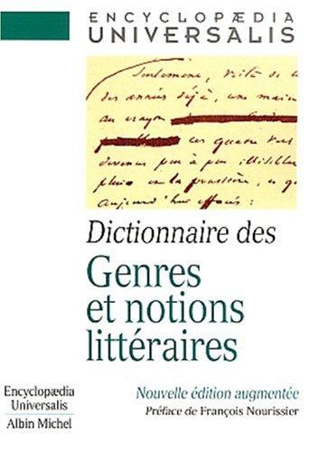 9782226122360: Dictionnaire des genres et notions littéraires