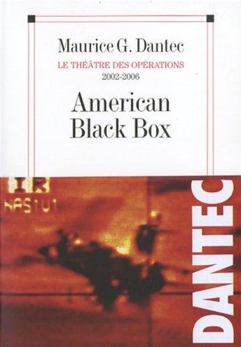 9782226170910: American Black Box (Critiques, Analyses, Biographies Et Histoire Litteraire) (French Edition)