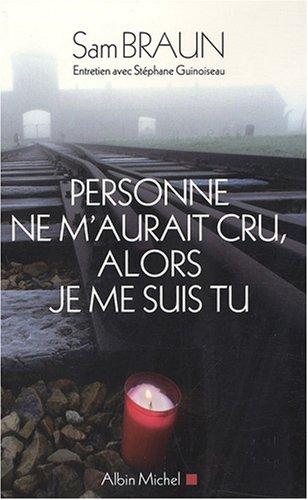 9782226180735: PERSONNE NE M'AURAIT CRU, ALORS JE ME SUIS TU (A.M. BIOG.MEM.)