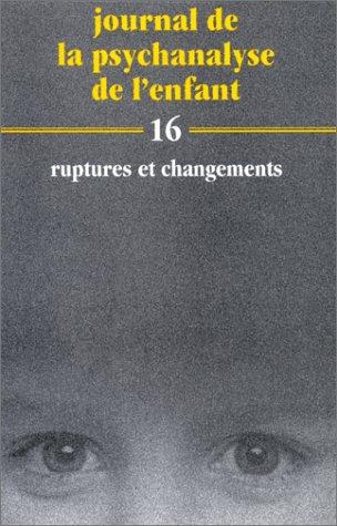 Journal de la Psychanalyse de l'Enfant, 16: