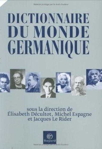 9782227477926: Dictionnaire du monde germanique