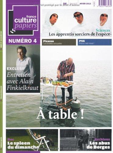 9782227485280: France Culture Papiers, N° 4, Hiver 2012 :