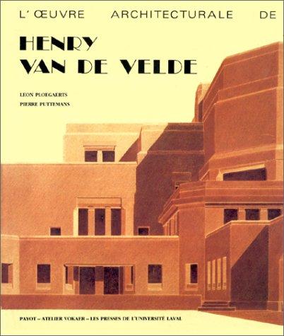 9782228003001: L'œuvre architecturale de Henry van de Velde (French Edition)