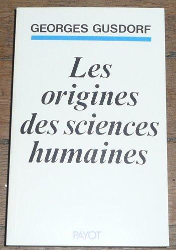 9782228041317: Origines des sciences humaines (les)