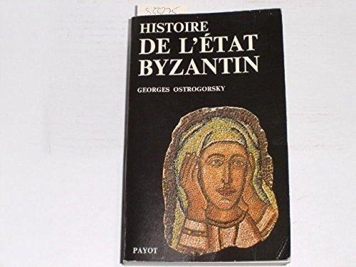 9782228070614: Histoire de l'État byzantin... (Bibliothèque historique)