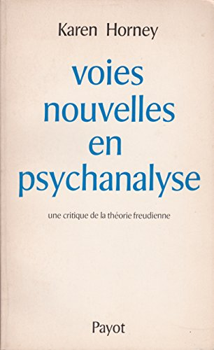 9782228116305: Voies nouvelles en psychanalyse