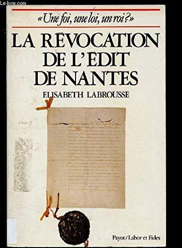 Revocation de l'edit de nantes: Elisabeth Labrousse