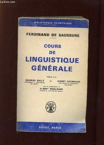 9782228500685: Cours de linguistique générale
