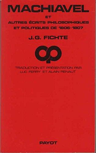 9782228522908: Machiavel : Et autres récits philosophiques et politiques de 1806-1807