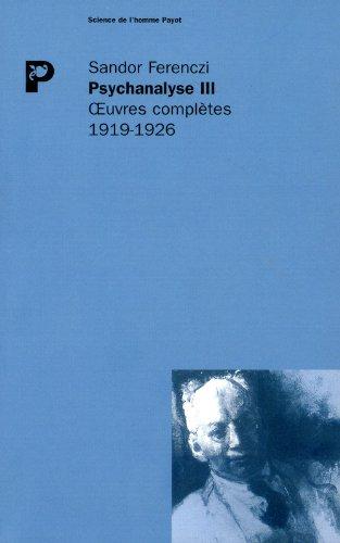 Oeuvres complètes: Ferenczi, Sandor
