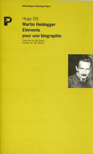 Martin Heidegger, éléments pour une biographie: Ott, Hugo