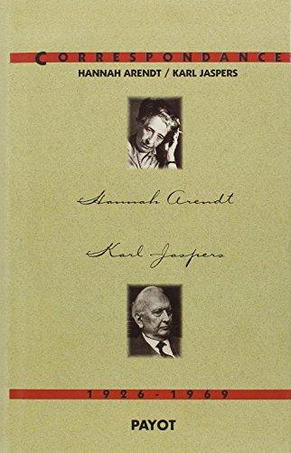 Correspondance, 1926-1969: Arendt, Hannah; Jaspers, Karl
