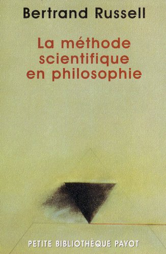 9782228895293: La Méthode scientifique en philosophie