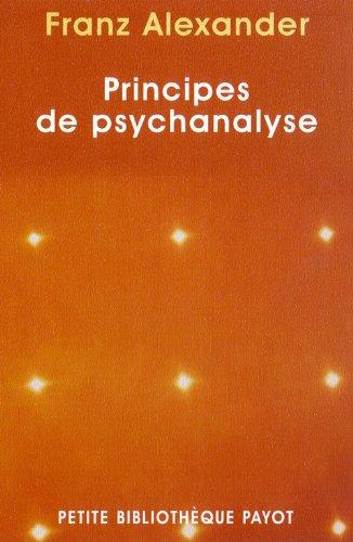 Principes De Psychanalyse: Alexander, Franz