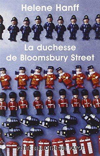 9782228898928: la duchesse de Bloomsbury street