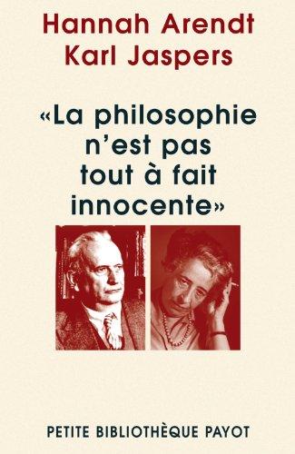 9782228901369: La philosophie n'est pas tout a fait innocente (Petite Bibliothèque Payot)