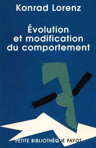 9782228901635: Evolution et modification du comportement (French Edition)
