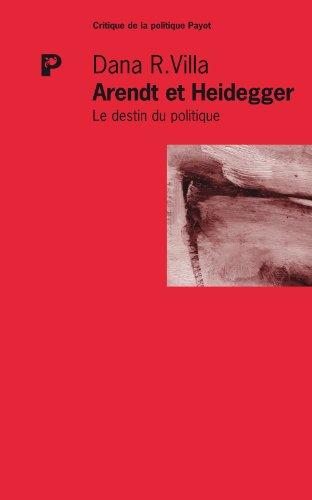 9782228903677: Arendt et Heidegger : Le destin du politique